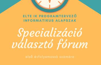 Specializáció választó fórum 2021