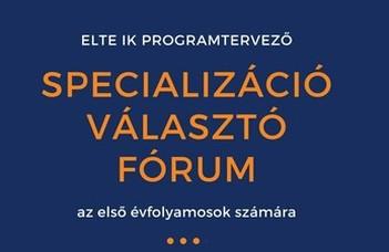 Specializáció választó fórum