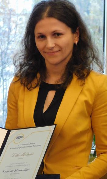 Az NJSZT Kemény János-díjában részesült Tóth Melinda