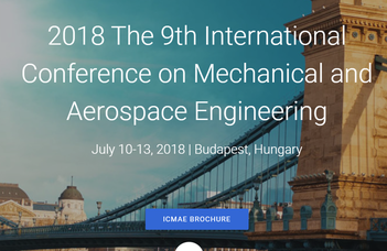 9th International Conference on Mechanical and Aerospace Engineering